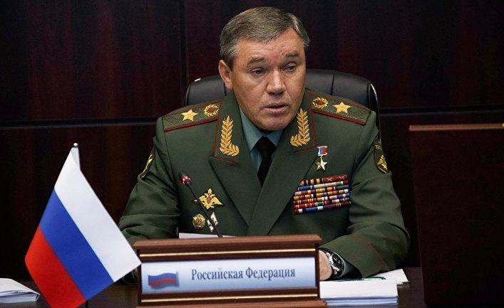 Начальник Генерального штаба Вооруженных сил РФ Валерий Герасимов на заседании Комитета начальников штабов вооруженных сил стран СНГ