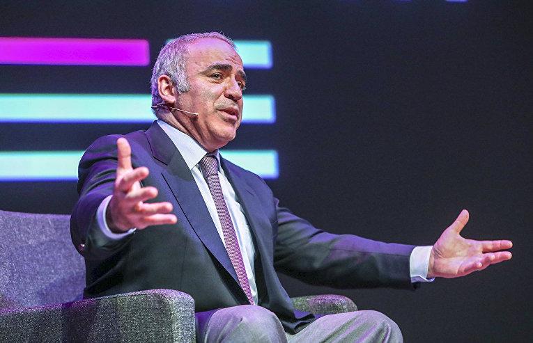 Гарри Каспаров выступает в Осло