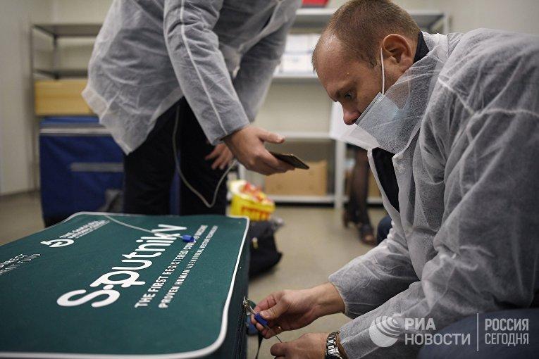 Отправка вакцины Sputnik V от COVID-19 за границу