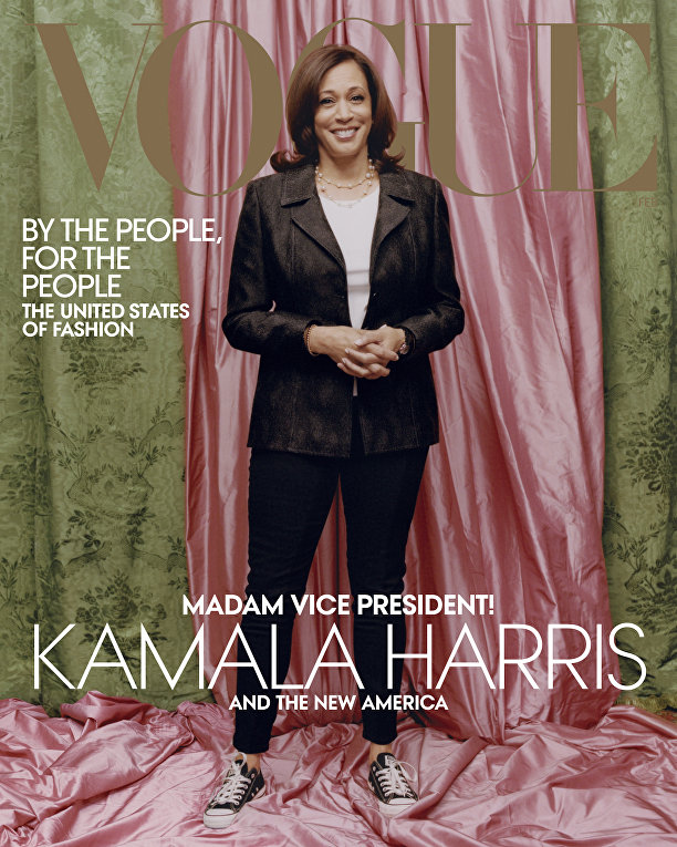 Камала Харрис на обложке жарнала Vogue