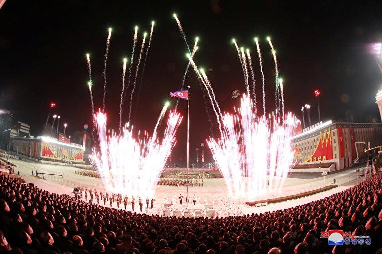 Салют в честь VIII съезда Трудовой партии в Пхеньяне
