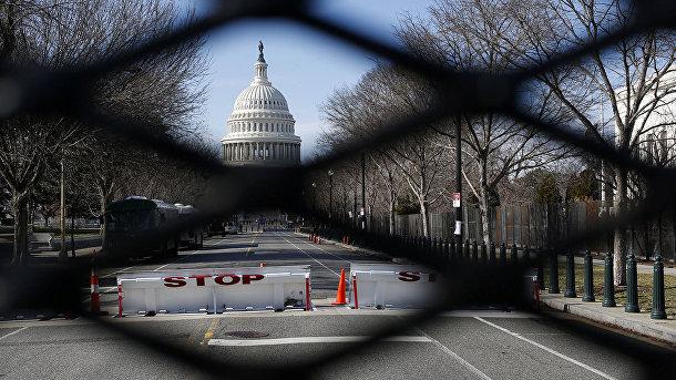 Вид Капитолия в Вашингтоне