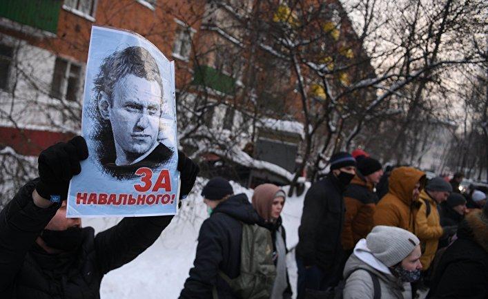 Отдел полиции, где находится задержанный А. Навальный