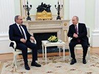 Президент РФ В. Путин провел встречу с премьер-министром Армении Н. Пашиняном