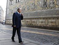 Владимир Путин во время визита в Дрезден, Германия