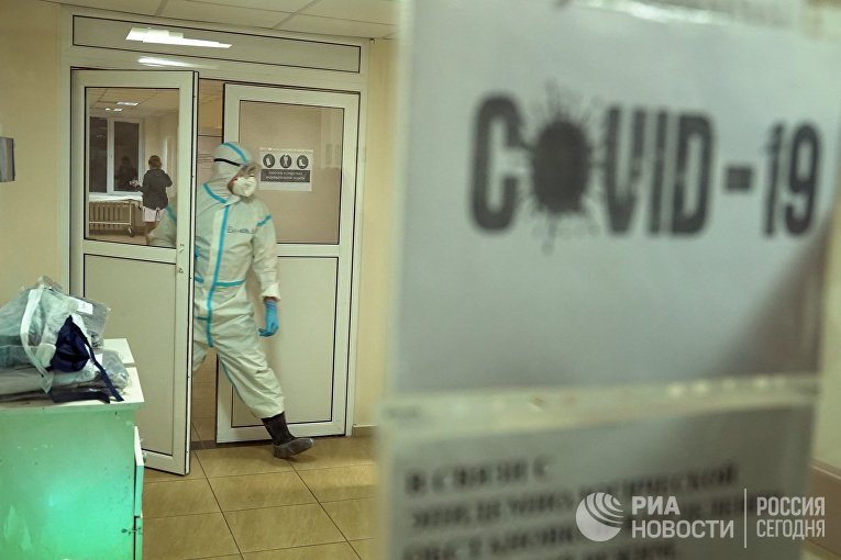 Открытие отделения для больных коронавирусом в Луганской больнице