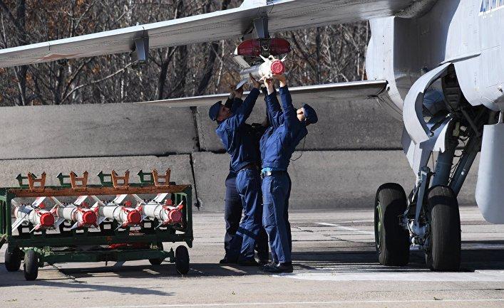 Учения авиационного истребительного полка в Приморском крае