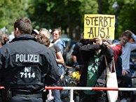 Акция против мигрантов в Берлине