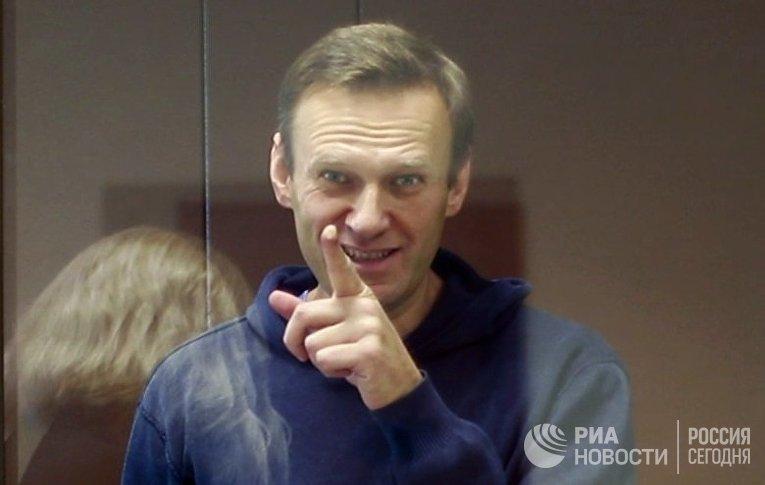 Заседание суда по делу А. Навального, обвиняемого в клевете в отношении ветерана