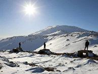 Сирийские пограничники на горе Хермон
