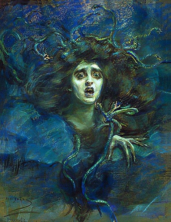 Элис Пайк Барни. Медуза. 1892.