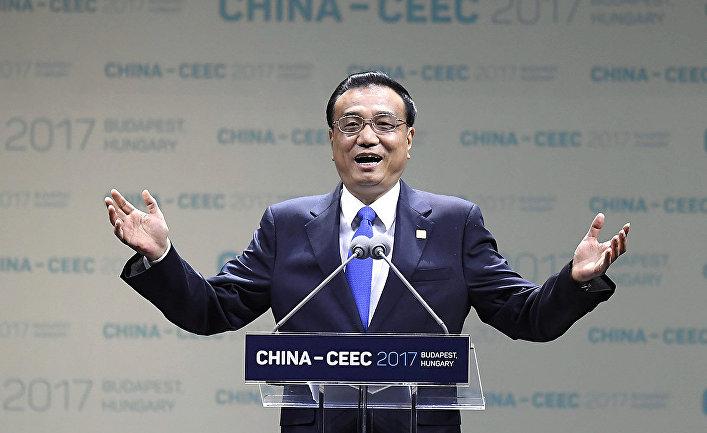 Премьер-министр Китая Ли Кэцян выступает на открытии саммита 16+1 в Будапеште