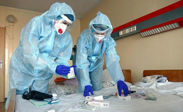 Госпиталь для больных коронавирусом в Ивано-Франковске
