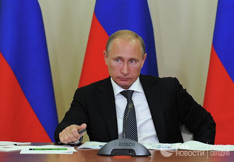 Рабочая поездка В.Путина в Новороссийск