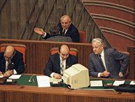 Президент СССР М.С.Горбачев и Председатель Верховного Совета РСФСР Б.Н.Ельцин