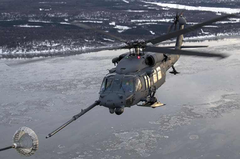 Американский вертолет HH-60 Pave Hawk во время военных учений НАТО «Дайнемик Гард»