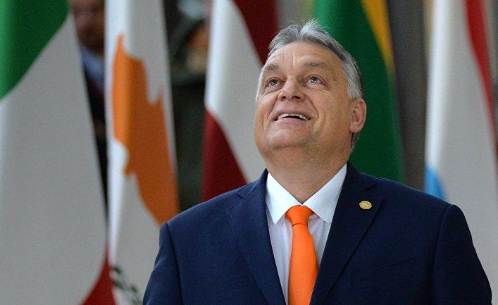 Премьер-министр Венгрии Виктор Орбан на саммите глав государств и правительств Евросоюза в Брюсселе