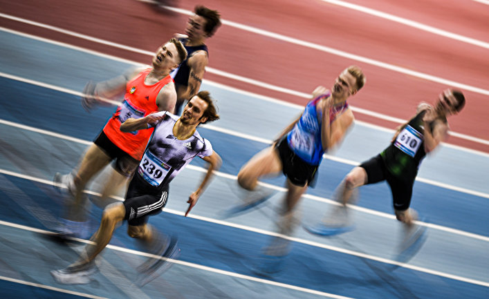 Легкая атлетика. Чемпионат России в помещении. Второй день