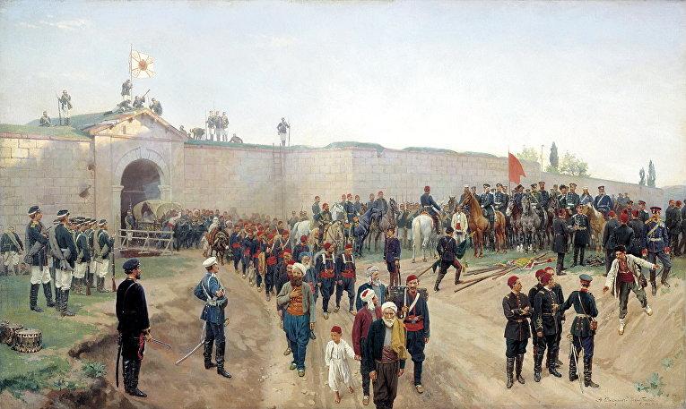 Сдача крепости Никополь в Болгарии