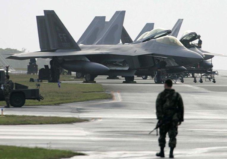 американская военная база на острове Окинава