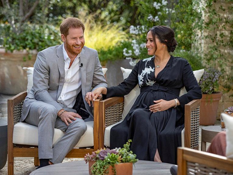 Гарри и Меган дают интервью Опре Уинфри