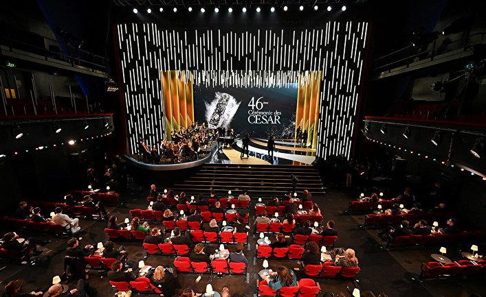 "46-я церемония вручения кинопремии ""Сезар"" на концертной площадке ""Олимпия"" в Париже"