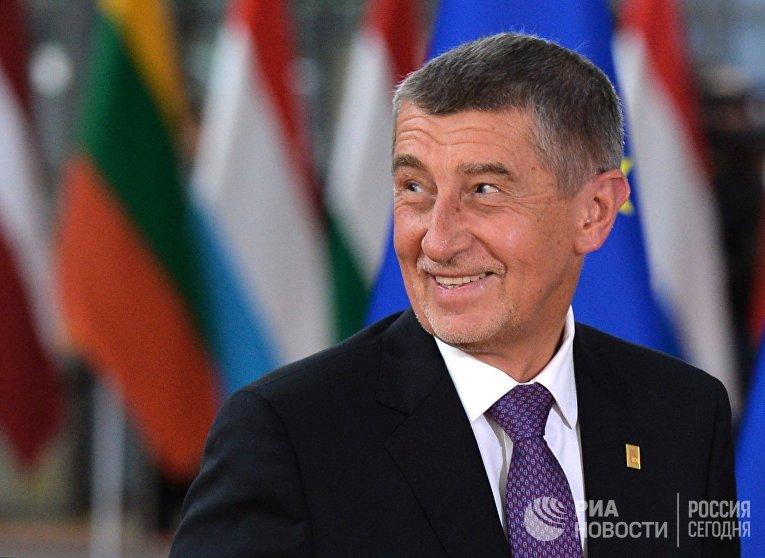 Премьер-министр Чехии Андрей Бабиш на саммите ЕС в Брюсселе