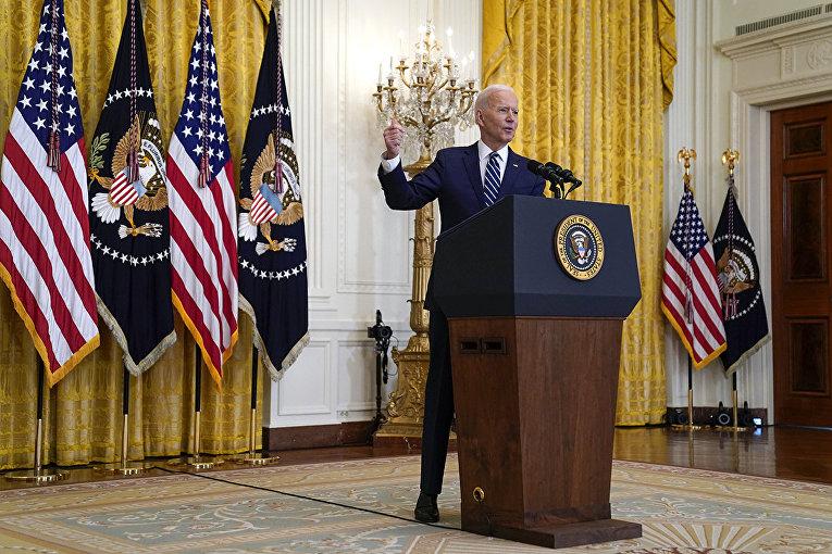 Президент США Джо Байден на пресс-конференции