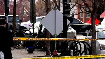 Место преступления в Вашингтоне, где был убит курьер UberEats