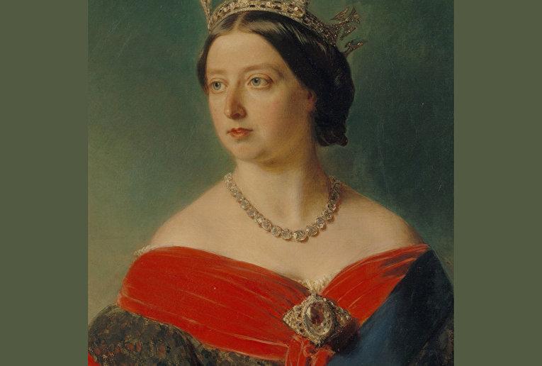 Королева Виктория и знаменитый бриллиант Кохинур в виде броши