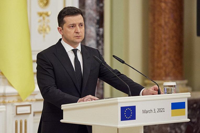 Встреча Президента Украины Владимир Зеленский с Президентом Европейского совета