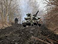 Украинские военнослужащие под Лисичанском в Луганской области