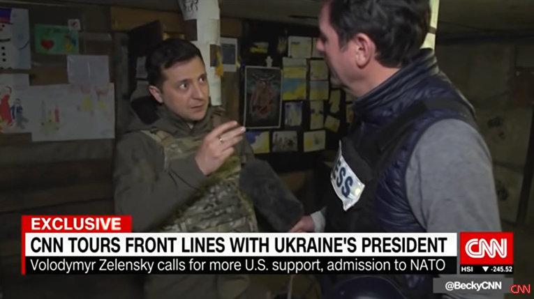 Репортаж CNN с линии разграничения между ДНР и Украиной