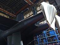"""Спуск на воду атомной подводной лодки """"Белгород"""" в Архангельской области"""