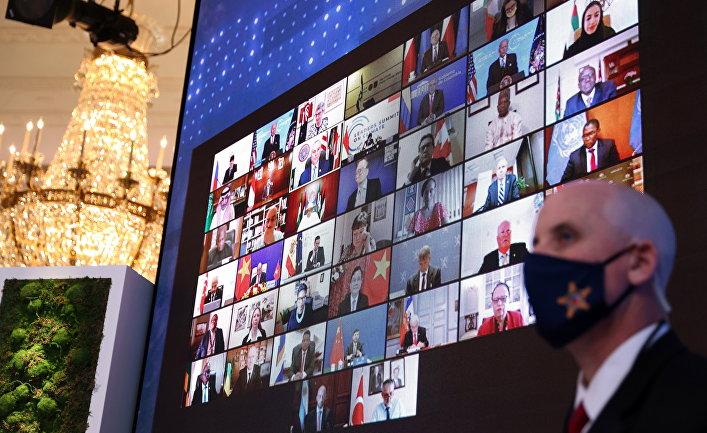 Мировые лидеры на виртуальном Всемирном саммите по климату