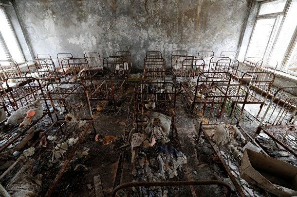 Заброшенный детский сад в Припяти, Чернобыль