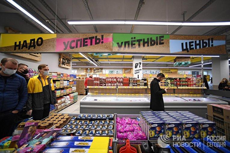 """Открытие первого жесткого дискаунтера """"Чижик"""" в Москве"""