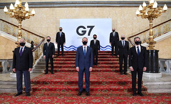 Верховный представитель ЕС по иностранных делам Жозеп Боррель и главы МИД стран G7 на встрече в Лондоне, Великобритания