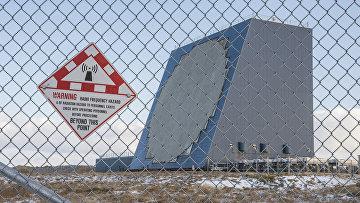 Радар на авиабазе США Ирексон, Аляска