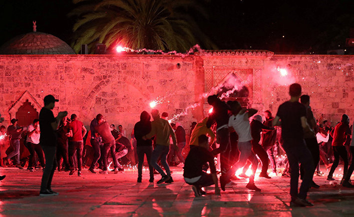 Беспорядки у мечети Аль-Акса в Иерусалиме