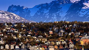 Вид на Тромсё, Норвегия