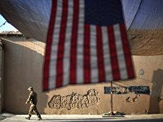 Солдат армии США на оперативной базе Бостик в провинции Кунар, Афганистан