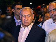 Премьер-министр Израиля Биньямин Нетаньяху в городе Лод