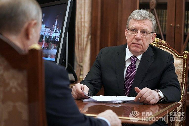 Президент РФ В. Путин провел встречу с председателем Счетной палаты РФ А. Кудриным