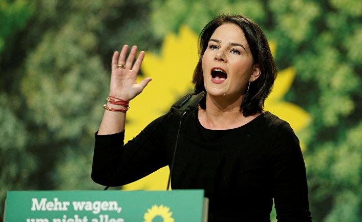 Кандидат надолжность канцлера ФРГ Анналена Бербок, партия «Зеленые»