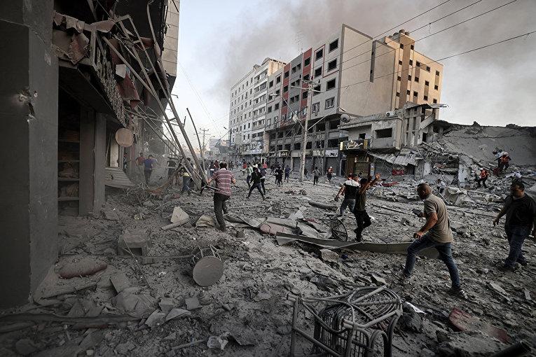 Последствия авиаударов в секторе Газа