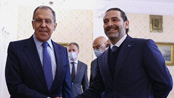 Встреча С. Лаврова с премьер-министром Ливана С. Харири