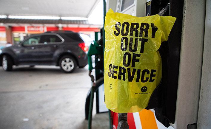 Неработающая заправочная станция в городе Шарлотт, штат Северная Каролина