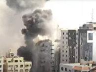 Авиаудар Израиля разрушил многоэтажное офисное здание Аль-Джаля в секторе Газа