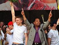 Победители «Евровидения» эстонцы Танель Падар и Дэйв Бентон в Таллине